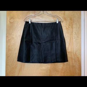 Express black mini pleather skirt